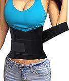corset abdomen slimming belt back brace Sport Waist Trimmer, Abdominal Trainer for Women Men Weight Loss Exercise Plan (L, Black)