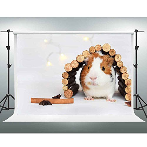 GESEN 10x7ft Fresh and Simple Backdrop Woody Pile under the Furry Cute Guinea Pig Backdrop Children Photography Background Video Studio Props SEN711