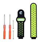 DDJOY Breathable Silicone Sport Band Replacement for Garmin Forerunner 220/230/235/620/630/735TX Watch Band, Pin-and-Tuck Closure, Medium Size (Black/Lime) Review
