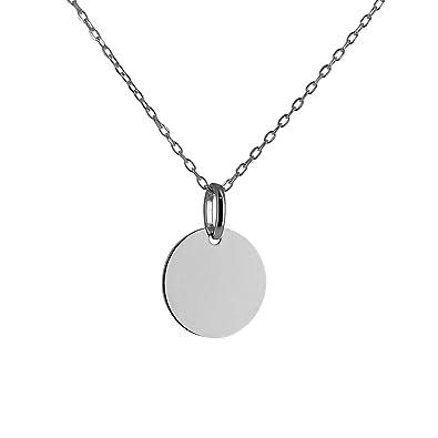 Bijobaba © Collier Enfant - Pendentif Médaille 14 mm Argent 925 - Longueur  36 à 38 3af7a9c8057d