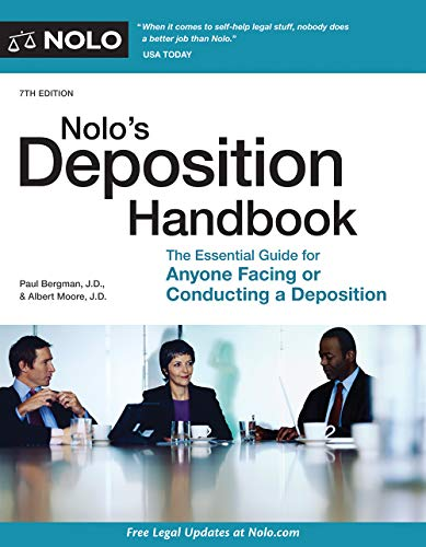 Pdf Law Nolo's Deposition Handbook: The Essential Guide for Anyone Facing or Conducting a Deposition