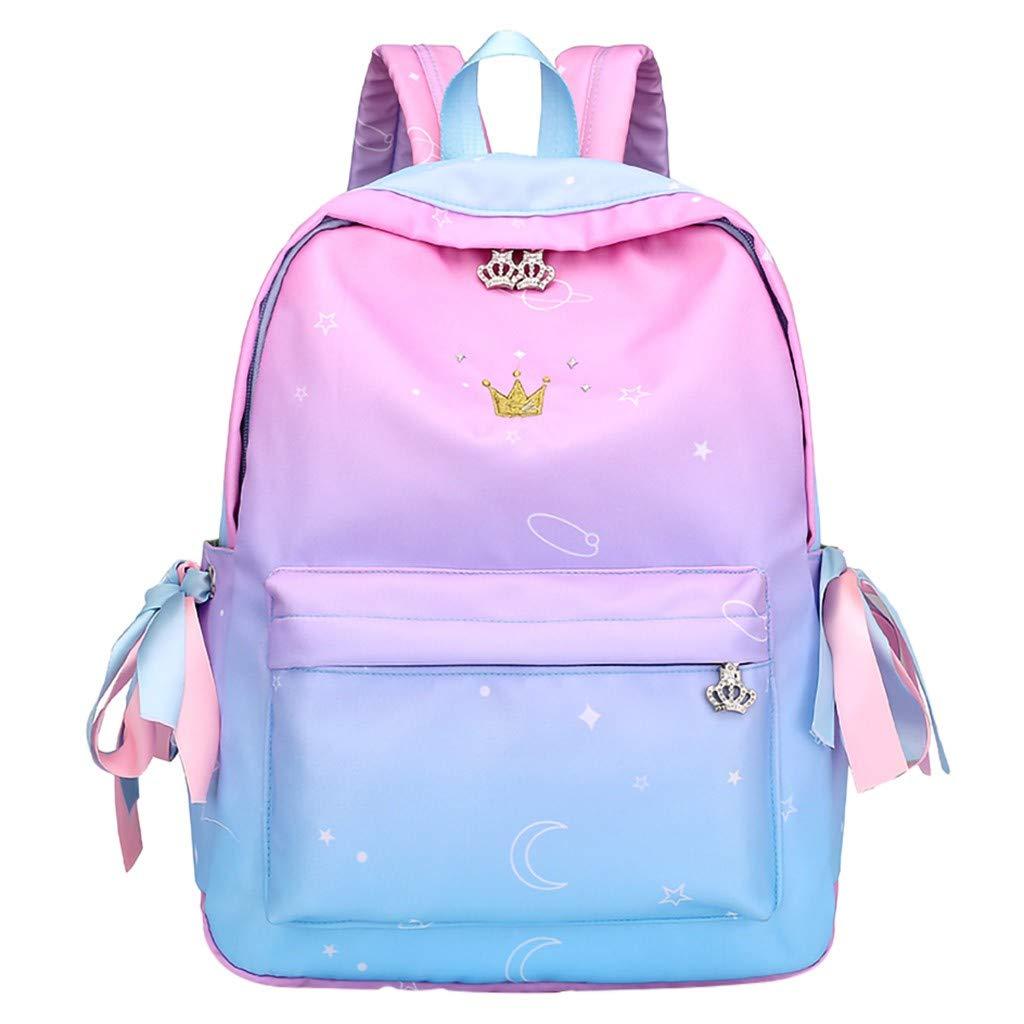 YEZIJIN Women Ladies Fashion Crystal Crown Travel School Shoulder Handbag Backpack Bags Under 20 by Yezijin_Bag/Backpack