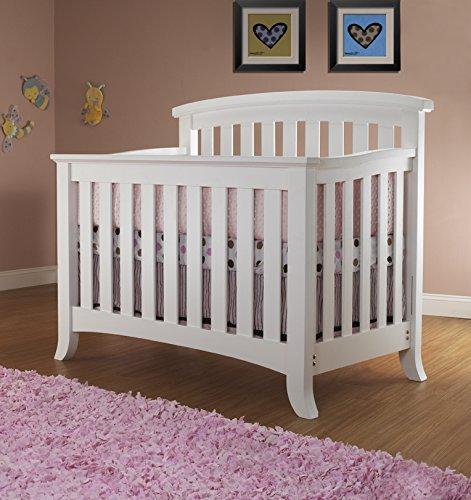Sorelle Alex 4-in-1 Convertible Crib - White
