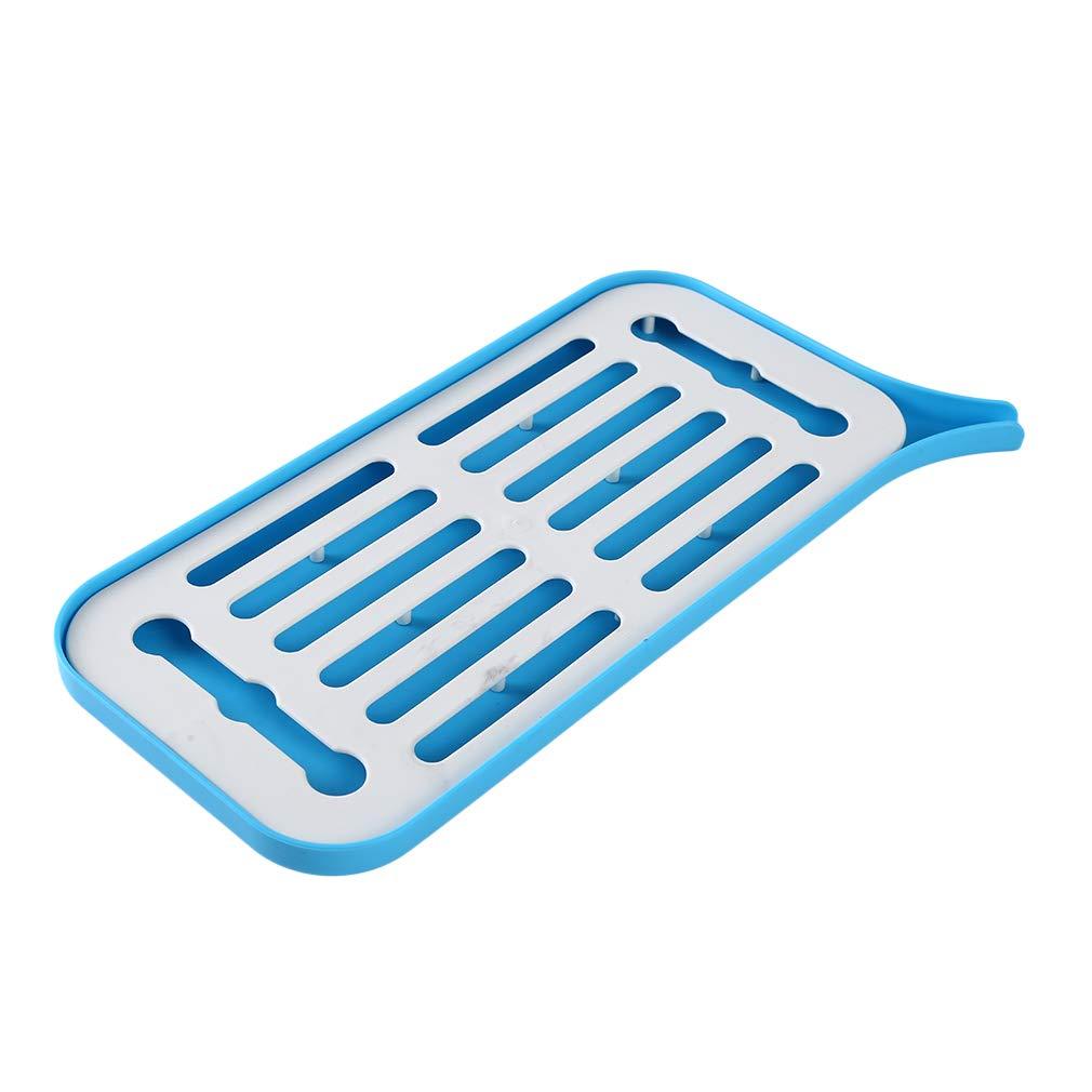 Azul As Description escurreplatos escurreplatos Polipropileno Bandeja organizadora para la Cocina Weiy Bandeja de Drenaje Lateral Fregadero