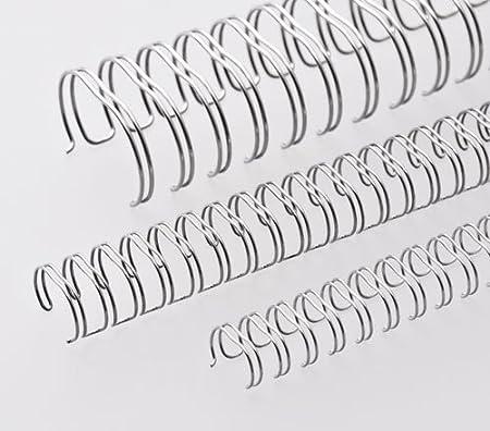 Renz One Pitch Drahtkamm-Bindeelemente in 2:1 Teilung 3//4 Zoll wei/ß Durchmesser 19.0 mm 23 Schlaufen