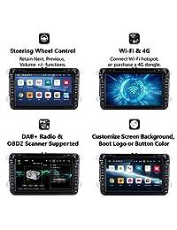 "2019 Unidad de Cabeza de Coche, Eonon Android 8.1 Radio Estéreo Doble Din para Coche 7"" 32GB ROM Unidad de Cabeza de Navegación GPS para Coche, Soporte Fastboot Bluetooth, Conexión WiFi (NO DVD CD)  GA2175"