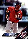 2016 Topps Update #US168 Robbie Grossman Minnesota Twins Baseball Card in Protective Screwdown Display Case