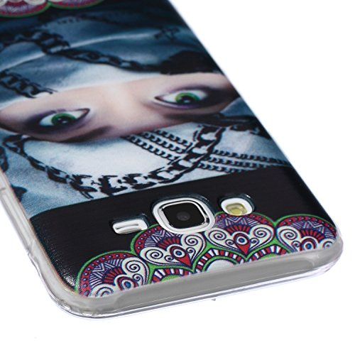 Carcasa para Galaxy Note 3, Galaxy Note 3 Soft Gel TPU Funda Silicona Carcasa, Galaxy Note 3 Funda Carcasa protectora, Galaxy Note 3 Silicone Case Cover Skin, Ukayfe Cubierta de la caja Funda protecto Mujer envuelta en bufanda