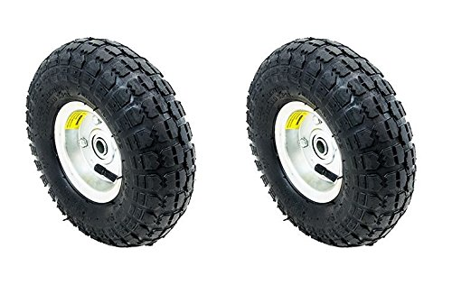 Thegood88 2 Tire Set 10' Steel Air Pneumatic Hand Truck Dolly Wagon Industrial Wheel