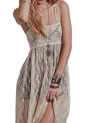 beige lace summer dress - 9