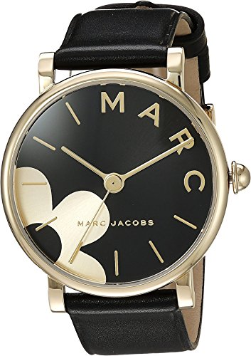 Marc Jacobs Women's Classic' Quartz Stainless Steel and Leather Casual Watch, Color:Black (Model: - Black Jacobs Watches Women Marc