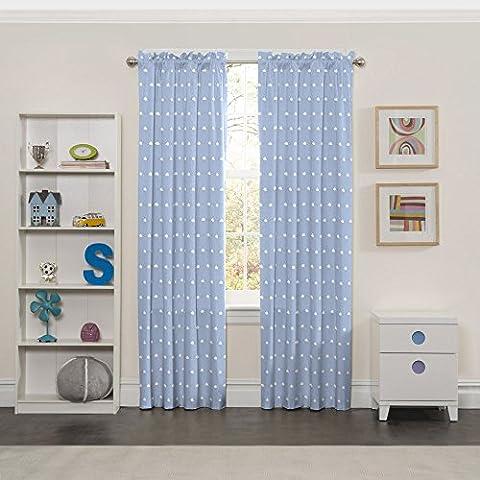 Eclipse 15937042X063BLU Cozy Cumulus Kids Window Curtain Panel, Blue, 42 x 63 (Eclipse Kids 63)