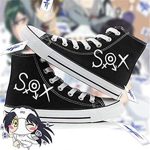Bromeo Shimoneta to Iu Gainen ga Sonzai Shinai Taikutsu na Sekai Unisexe Toile Salut-Top Sneaker Baskets Mode Chaussures
