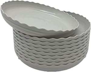 DODXIAOBEUL Light Grey Plant Saucers 10 Pack Flower Pot Drip Trays for Indoor & Outdoor Plants Garden Saucers Plant Pot Saucer Trays - Assorted Sizes for Large to Small Pots (5.5 Inch)