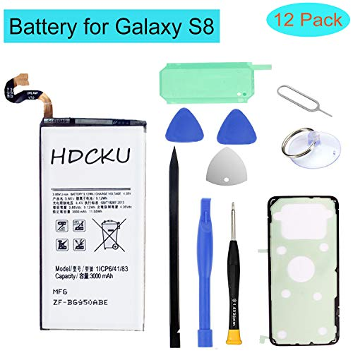 HDCKU Battery Replacement Kit for Samsung Galaxy S8 SM-G950 EB-BG950ABE with Full Repair Tools Set and Instruction