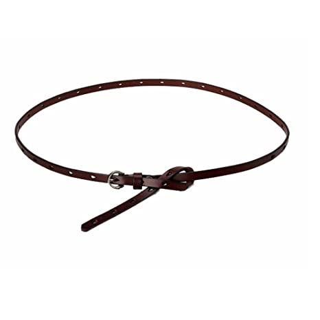 Cinturón de mujer para mujer Cinturón de cintura flaca de color sólido  hebilla de pin de 9904db92a9a9