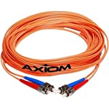 Axiom STSTMD5O-25M-AX Network cable - ST multi-mode (M) to ST multi-mode (M) - 82 ft - fiber optic - 50/125 micron - OM2 - orange