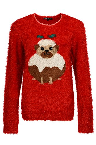 amp; Maglione In Stuck Donna Red Soul Pug Heart Felpa OFgqwPHSS