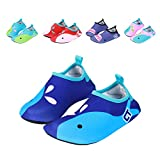 fereshte Kids Toddler Breathable Non-Slip Beach Aqua Socks Swim Water Shoes Blue US Little Kid 11.5-12.5M