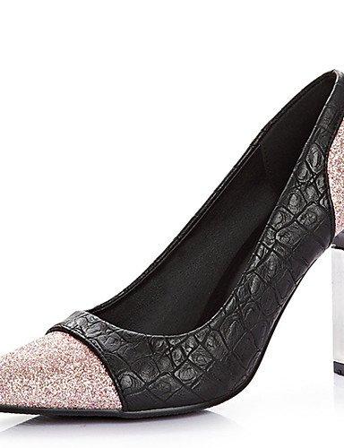 GGX/ Damen-High Heels-Kleid / Lässig / Party & Festivität-PU-Stöckelabsatz-Absätze / Spitzschuh-Rosa / Leopardenmuster pink-us7.5 / eu38 / uk5.5 / cn38