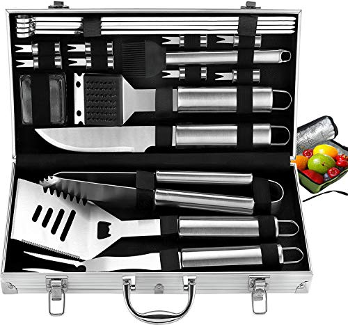 Best Review Of ROMANTICIST 20pc Complete Grill Accessories Kit with Cooler Bag - The Very Best Grill...