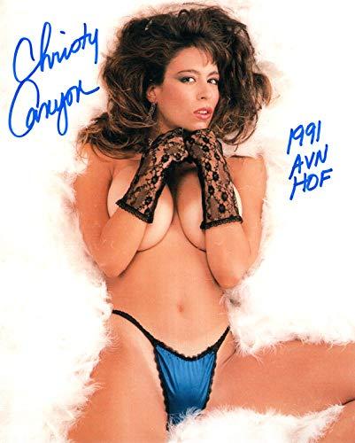 Christy Canyon Porn Star - CHRISTY CANYON SIGNED 8x10 PHOTO + HOF XXX PORN MOVIE ...