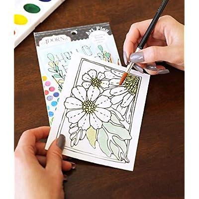 Adorn-It Artplay Watercolour Paper 12-Page Mini Book, 10.16 x 15.24 x 2.54 cm, Multi-Colour: Arts, Crafts & Sewing
