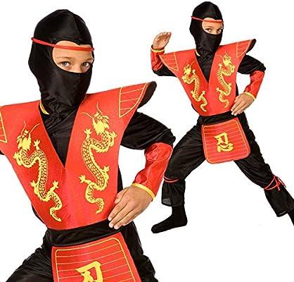 Amazon.com: Morph Kids Ninja Costume Childrens Red Kung Fu ...