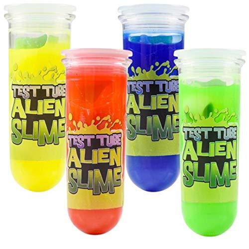 OIG Brands Slime Kit for Girls and Boys - Goody Bag Filler, Birthday Gifts for Kids Non-Toxic (Alien Test Tube 24 Pack) ()