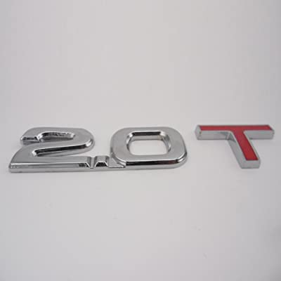 Manso New 2.0T 2.0 T Turbo Metal Trunk Emblem Badge Decal Sticker fit for Audi Ford Hyundai: Automotive
