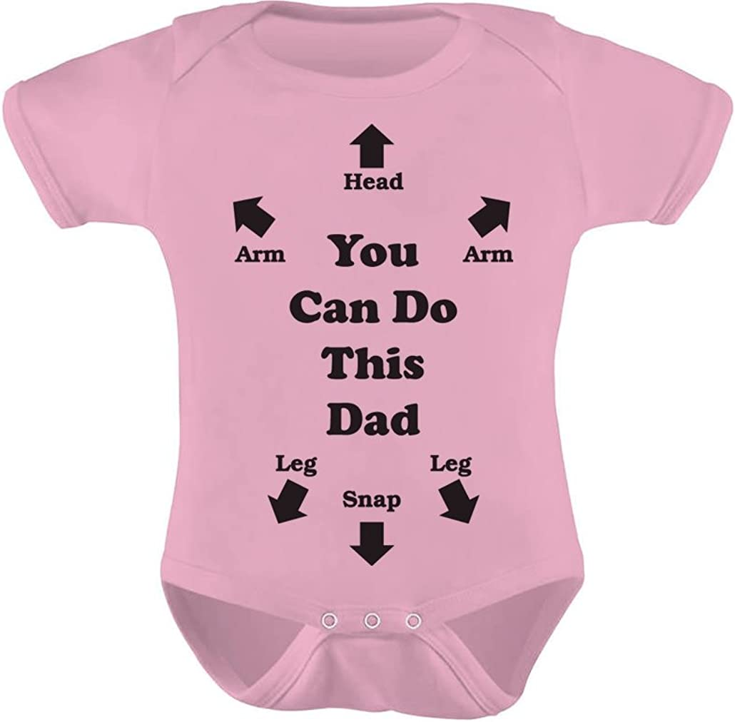 Tstars You Can Do This Dad Outfit Funny Gift for New Dads Cute Baby Boy Girl Bodysuit