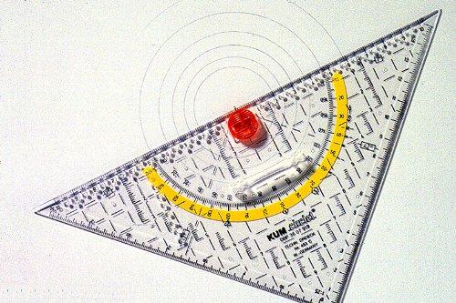 Kum 209.13.01 22cm Crystal Clear Acrylic Technical Compass Triangle ()