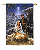 Evergreen A Savior is Born Satin House Flag, 29 x 43 inches Review