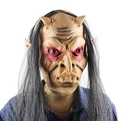 Ladybeauty Long Hair of Latex Red Eye Devil