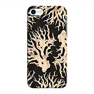 Cover It Up - Black Gold Nature Print iPhone 8 Hard Case