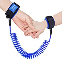 Austor Baby Child Anti Lost Wrist Link Safety Harness Strap Rope Leash Walking Hand Belt (Blue)