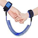 Austor Baby Child Anti Lost Wrist Link Safety Harness Strap Rope Leash Walking Hand Belt (Blue)