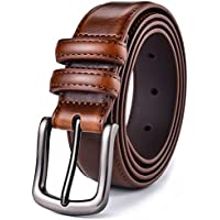 Autolock Genuine Leather Dress Belt With Single Prong Buckle