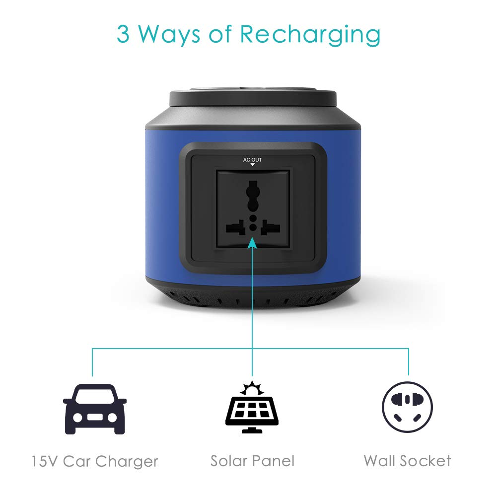 RegeMoudal Solar Power Generator 222Wh 60000mAh 110V Camping Home Back up Portable Power Station Supply Rechargeable Emergency 4 DC Ports 4 USB Ports Charged by Solar/AC Outlet/Car for CPAP by RegeMoudal (Image #3)