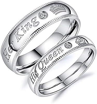 Amazon.com: JewelBeauty Juego de 2 anillos de compromiso de ...
