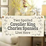 Two Spoiled Cavalier King Charles Spaniels Live Here - Lovely Small Dog Sign/Plaque for Spaniel Dog Gifts 4
