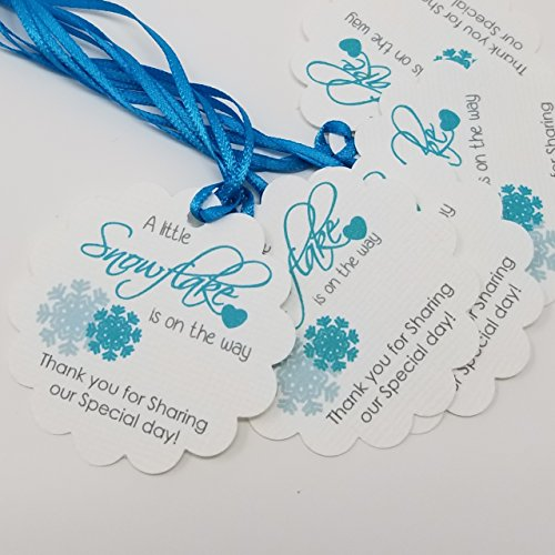 Boy Baby Shower Favor Tags - A little Snowflake Favor Tags - Winter Baby ShowerTags - Thank You Tags