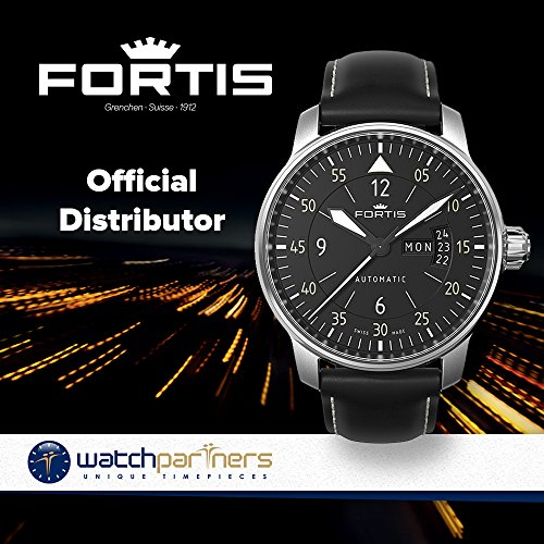 Fortis Flieger Cokpit one 1 Aviatis watch day date Automatic 704.21.18 L.01