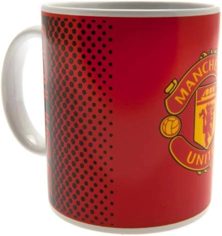 Manchester United FC Fade Design Football Mug Keyring Christmas Gift Set