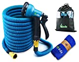 Gada 75FT Expandable Garden Hose - 2018 Strongest Water Hose with Triple Latex Core - Improved Extra Strength Fabric No Leak - 8 Function Spray Nozzle Flex Garden Pocket Hose -Free Storage Bag