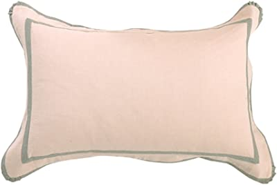 D&L Cotton washed cotton pillowcase, Single simple embroidered pillowcases-D 48x74cm(19x29inch)