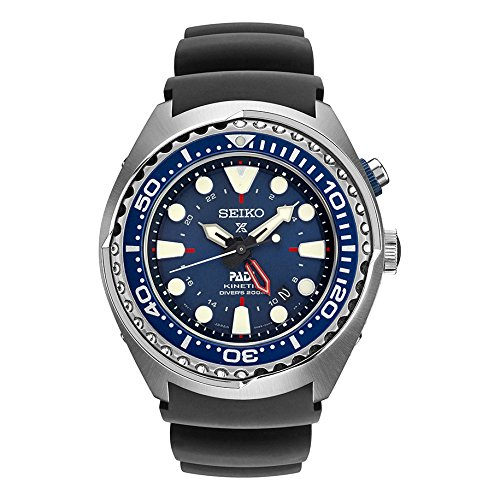 Seiko® Men's Prospex Kenetic GMT Diver with Blue Silicon