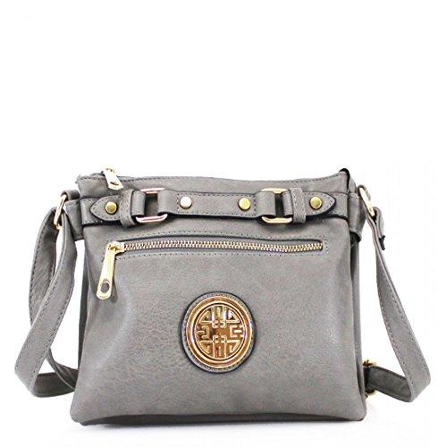 Body Grey Satchel Leather Faux Shoulder Messenger Cross Tote Handbag Ladies Bag Women P7tqT