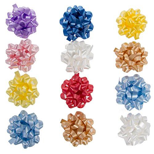 "12 Pack Large 4.5"" Assorted Confetti Gift Bows Presents Birthdays Holidays Bulk Lot Wrapping"