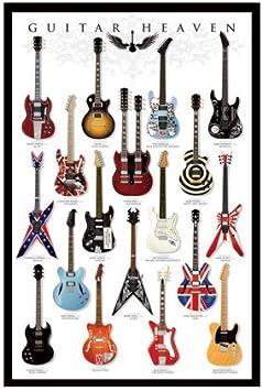 Póster Guitar Heaven – Famosos guitarras de de la Historia de rock ...